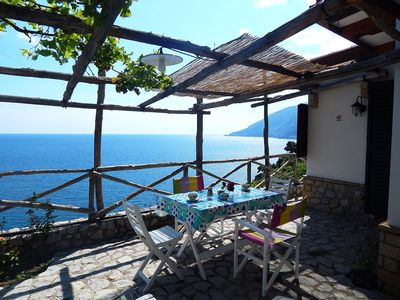 Photo for PANORAMIC COTTAGE NEAR AMALFI PEAK ON THE SEA AND WITH GARDEN AND PATIO