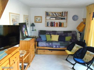 Photo for Maisonette air-conditioned with closed patio and parking
