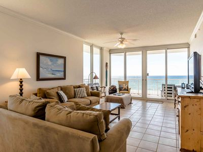 Photo for Spacious Three Bedroom Condo with Breathtaking Views of the Gulf! Free Beach Chairs!