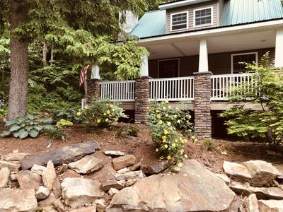 Photo for Charming Cottage Along Penns Creek, Waterviews, WiFi, Apple TV,  Outdoor Fire