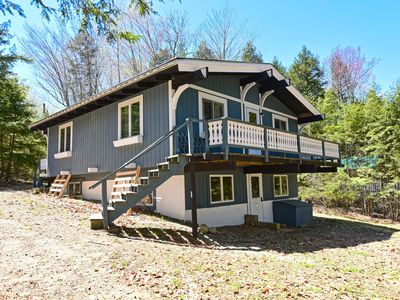 Photo for Swiss Chalet with Water Views & Short Walk to Beach - Canoe & Kayak Provided