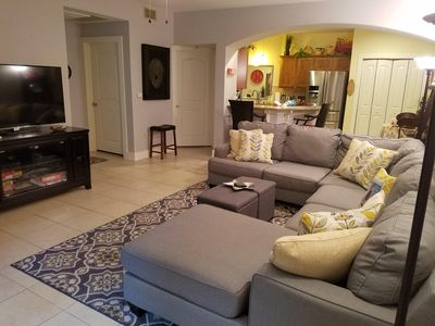 Spacious TV viewing area w/145 channels, BluRay player, and free Netflix!