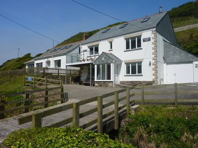 Photo for Trebarwith Strand Modern Spacious Sea Side House with Sea Views.
