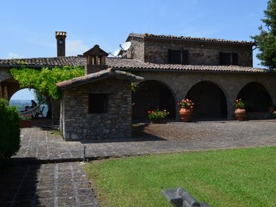 Photo for Villa in Umbria with private pool in beautiful position, perfect position to explore Tuscany and Umbria