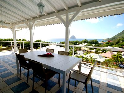 Photo for Top of exceptional sea view villa (MQDI56)