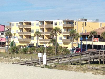 Steps to Beach! - Availability! Gated Garage!  Family friendly. Large Unit.