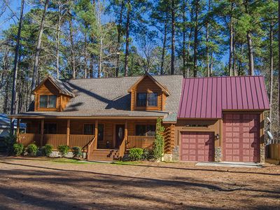 Photo for Log Home located on Clark Hill/Strom Thurmond Lake with Dock. Pet Friendly