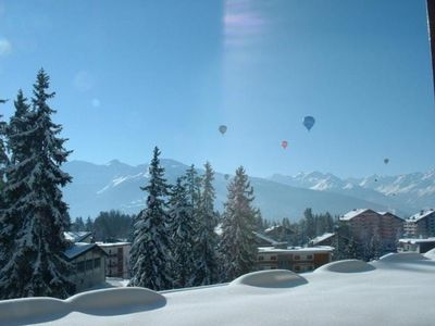 Photo for Holiday apartment Crans-Montana for 4 - 6 persons with 3 bedrooms - Holiday apartment