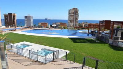 Photo for APARTMENT WITH FANTASTIC VIEWS TO THE BEACH TO THE SEA AND TO THE RESIDENTIAL COMPLEX