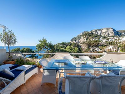 Photo for Panoramic Limone to rent in Capri (Italy) with breathtaking sea view