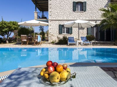 Photo for Early booking: Private villa ideal for families with pool in Tsoukalades Lefkada