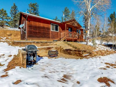 Photo for Rustic cabin with free WiFi and woodstove, wildlife viewing