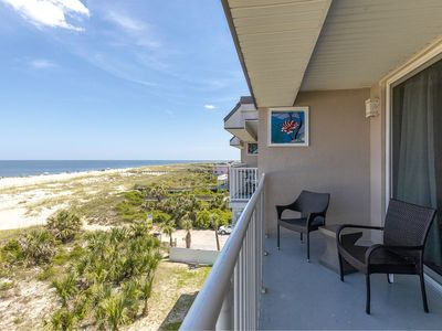 Photo for Remodeled Top-Floor Oceanfront Condo with 2 Balconies, Community Pools, Pet Friendly