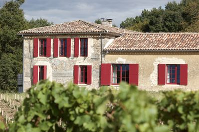 Exterior of the House overlooking the vines