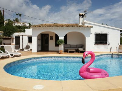 Photo for Stunning villa with private pool and seaview