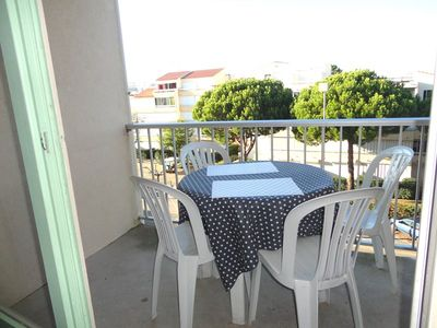 Photo for 2 rooms in residence with pool balcony elevator- LE GRAU DU ROI