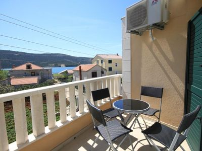Photo for Three bedroom apartment with terrace and sea view Poljica (Trogir) (A-8682-a)