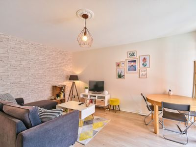 Photo for Beautiful apartment with parking close to the Canal de Brienne