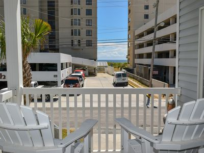 Photo for 3 NIGHT MINIMUM. 3 Bedroom 3 bath Condo ~Ocean view from the balcony 1st floor. Outdoor Pool