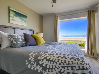Photo for Remodeled Oceanfront Condo, Private Patio, Walk to All!
