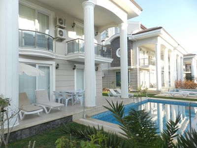 Photo for Villa Beach Breeze B2 5 Bedroom Private Villa. 5 bedroom private villa with private pool & garden and sauna located on Beach Breeze Site Calis. Beach Breeze complex is 400 mt away from Calis Beach with famous sunset.