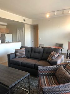 Large, Comfortable Living Area with a Variety of Seating Options