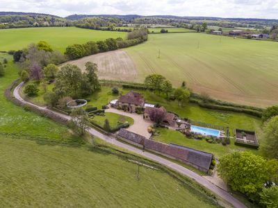 Photo for Rural luxury in romantic setting with stunning views and a swimming pool/tennis