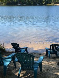 Beach Area with Adirondack Chairs