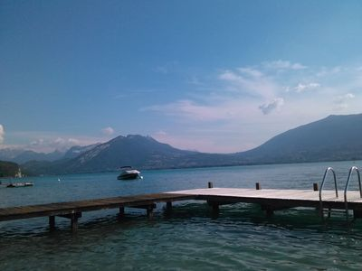 Photo for your holidays at the lake of annecy, lake access by pontoon