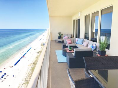 Photo for * Amazing Gulf Front Condo with 40' Balcony!*