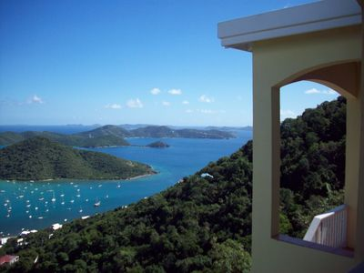 The view from the Villa's veranda is unbelievably beautiful
