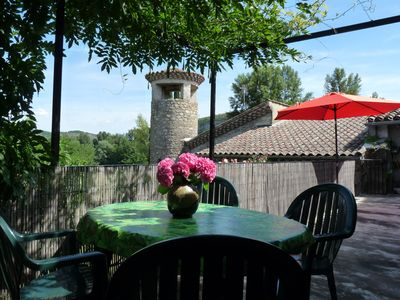 Photo for Holiday cottage for 4-5 people, near a river. South Ardeche, southern climate