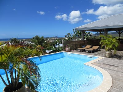 Photo for Hacienda around a swimming pool with sea view completely renovated in June 2018