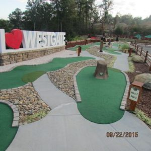 Play mini golf on top of the mountain