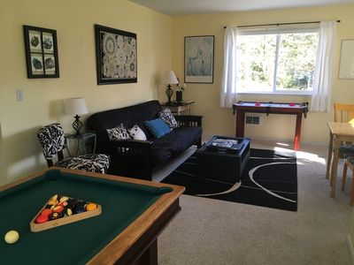 Living area is very roomy with lots of natural light.