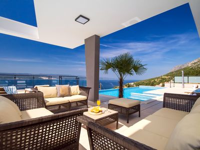 Photo for Luxury Villa Avior with private pool, sauna, gym & panoramic sea view