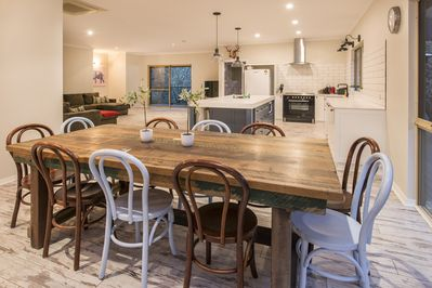Farmhouse style dining and kitchen