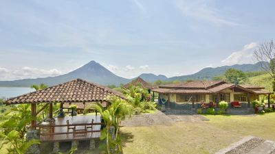 Photo for Wide Luxury Home with Pool & Jacuzzi access & Amazing Volcano and Lake views