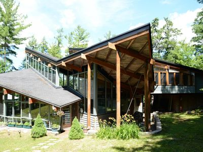 Photo for Rocklands Glass House - Lake Rosseau