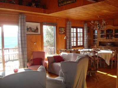 Photo for Traditional Wood Chalet. Quality services. Exceptional view. WIRELESS.