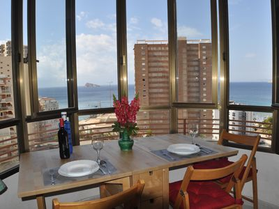Photo for Sea view apartment at the beach (50 m) and shops