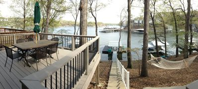 Photo for Lakefront Home with beautiful views of cove and main channel!