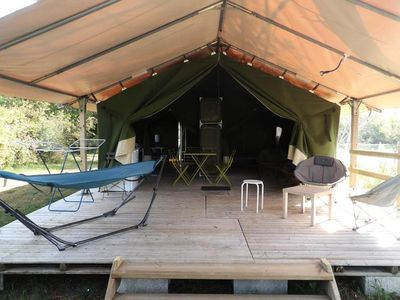 Photo for Camping Les Étangs Mina *** - Freeflower Tent 5 people Without Bathroom
