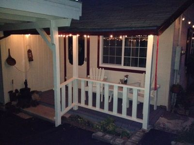 Night time on the front porch