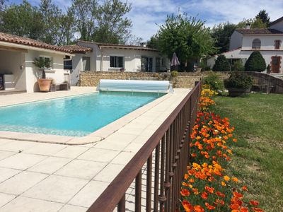 Photo for House for 2, heated pool WIFI in farmhouse at the gates of Limoux
