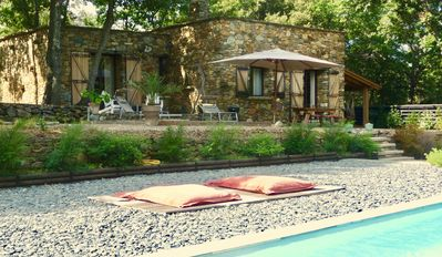Photo for Lovely stone villa in a garden, in the middle of Patrimonio vineyard, near beach