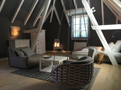 Photo for Luxury design apartment 100m from Lake Starnberg: THE MOUNTAIN ROOM
