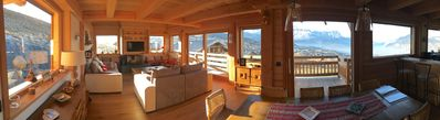 Photo for Comfortable cottage in MEGEVE-COMBLOUX, 10 people, panoramic view, quiet