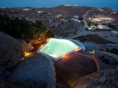 Photo for VILLA RAELA SUPER PARADISE MYKONOS, 3 BEDROOMS 3 BATHROOMS, PRIVATE POOL, UP TO 6 GUESTS !