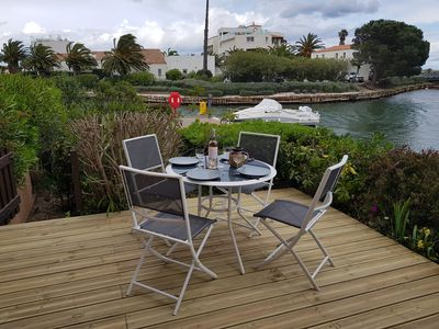 Photo for Pretty T2 in saint cyprien beach at the edge of the marina
